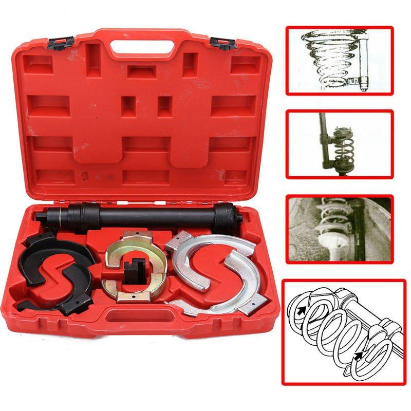 Image of Trusa comprimare arcuri suspensie cu 3 seturi de gheare si presa cu actionare pneumatica sau manuala