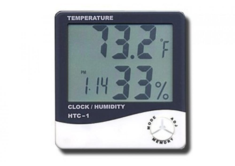 Termohigrometru Digital cu functie de Termometru si Ceas pret