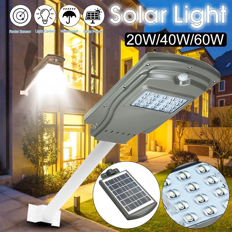 Image of Lampa Stradala Proiector LED 20W cu panou solar si senzor de miscare