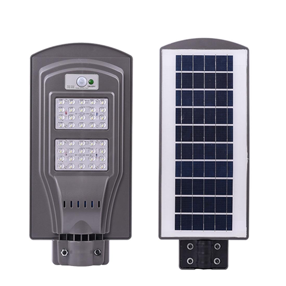 Image of Lampa stradala 40W LED cu panou solar si senzor de miscare