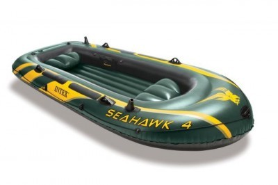 Image of Barca gonflabila pentru 4 persoane Seahawk IV Intex 68350