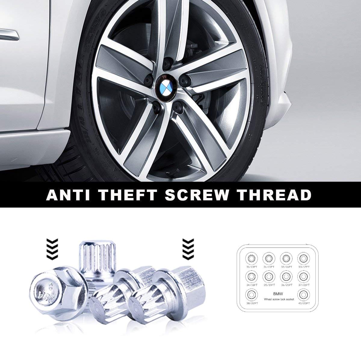 Image of Set 10 chei speciale pentru antifurt prezoane roti BMW 13-23