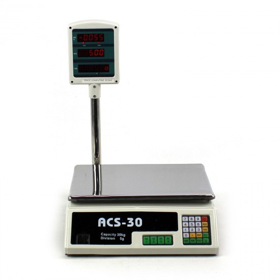Image of Cantar electronic comercial 30 KG ACS-30
