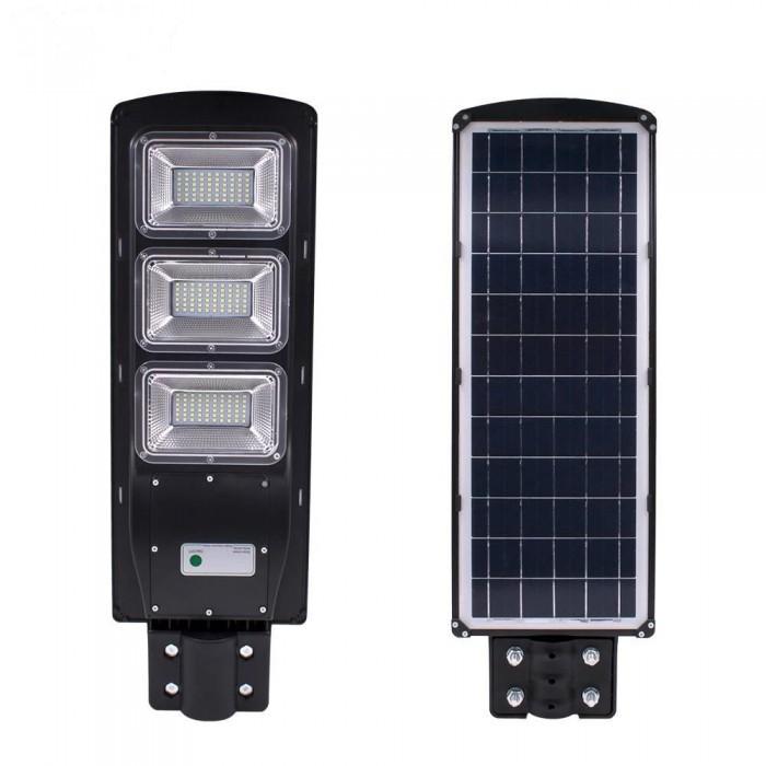 Lampa solara stradala sau de curte, 120W, cu telecomanda