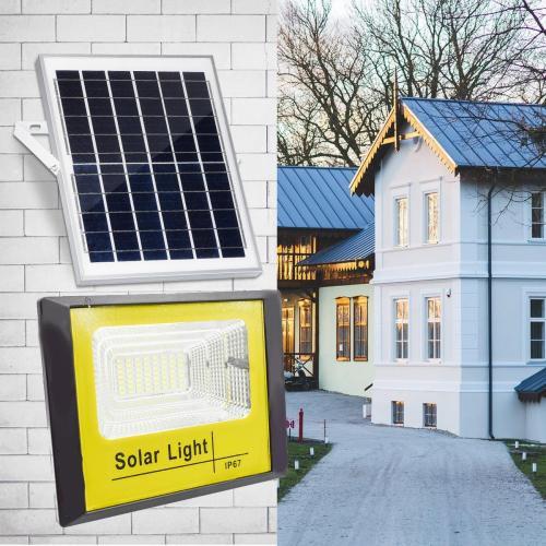Oferta Panou solar cu proiector de 100W si telecomanda