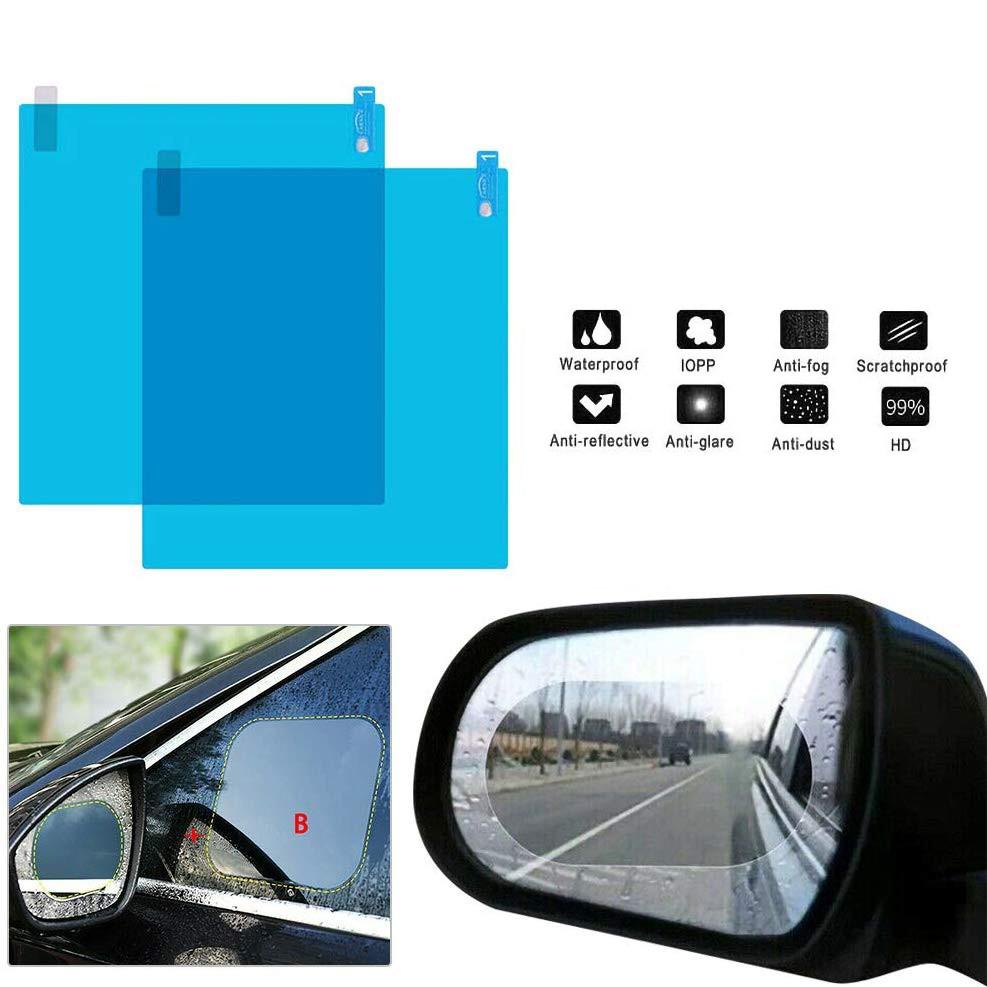 Set 2 folii universale pentru oglinzi sau geamuri auto antiaburire, anti stropire