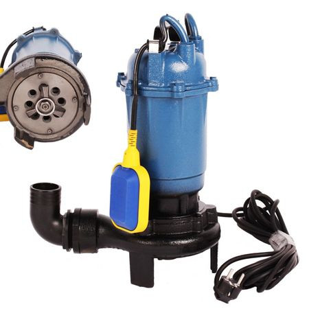 Pompa apa murdara cu tocator si flotor 2600W 2 toli