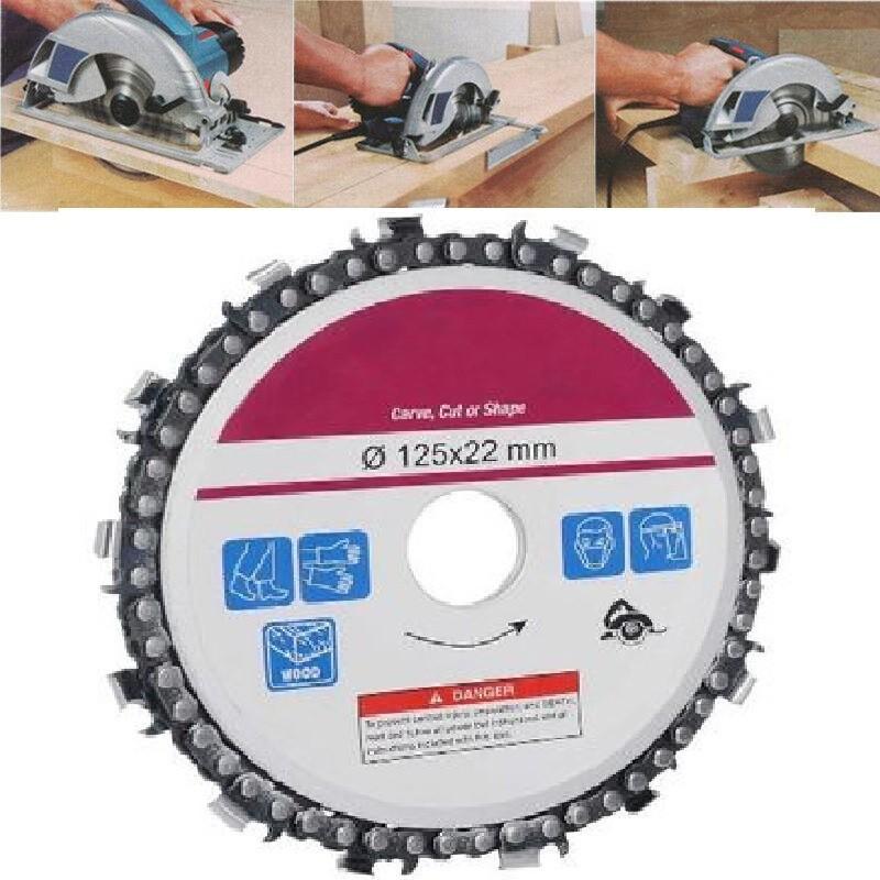 Disc flex lemn cu lant drujba, polizor unghiular, diametru 125 mm