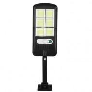 Lampa solara cu 60 de LED-uri, panou solar, senzor de miscare si lumina