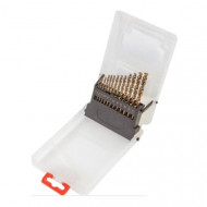Set 13 buc burghie spirale metal tip HSS 2-8 mm