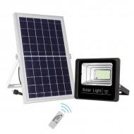 Panou solar cu proiector 40W, cu telecomanda