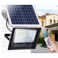 Proiector LED SMD, 50 W, cu panou solar si telecomanda