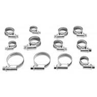 Set 12 colierele din oțel inoxidabil cromat