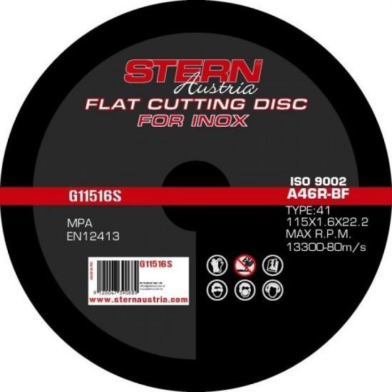Image of Disc abraziv Stern Austria G11516S pentru polizor unghiular - 115x1,6mm