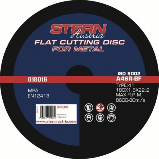 Image of Disc abraziv Stern Austria G18016 pentru polizor unghiular - 180x1,6mm