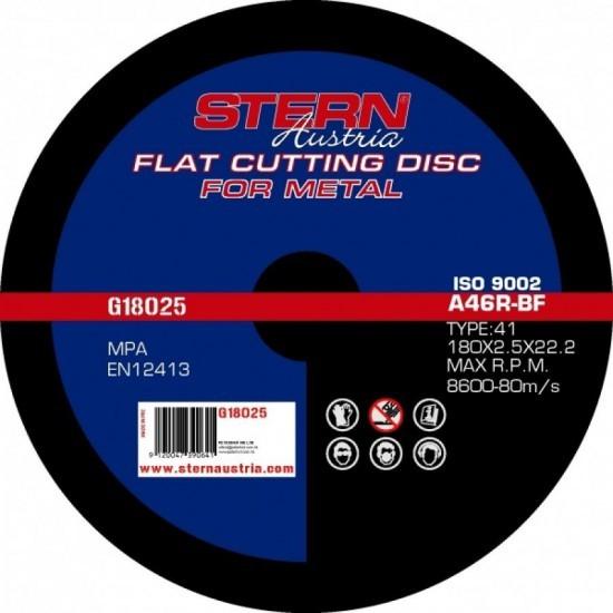 Image of Disc abraziv Stern Austria G18025 pentru polizor unghiular - 180x2.5mm