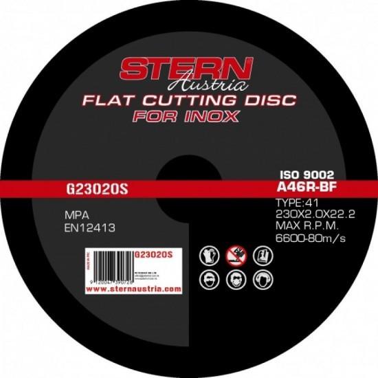 Image of Disc abraziv Stern Austria G23020S pentru polizor unghiular - 230x2.0mm