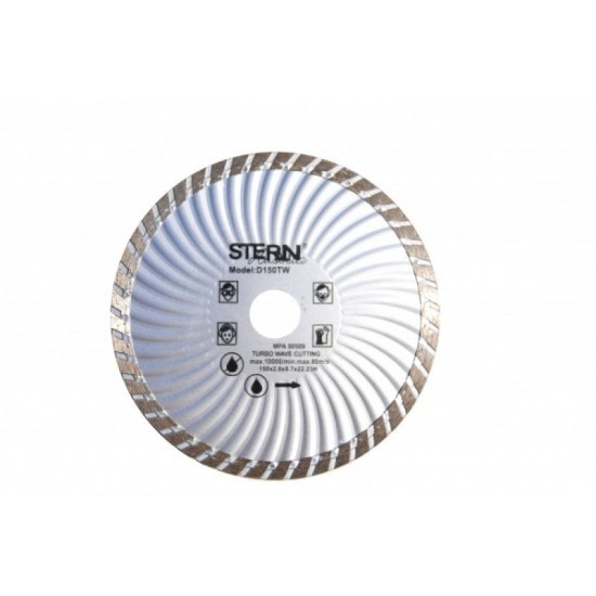 Image of Disc diamantat Turbo Stern D150TW pentru polizor