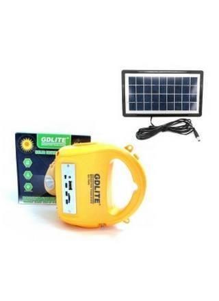 Image of Kit Panou Solar Gdlite GD7655B cu Lanterna, Radio, MP3 Card Reader si USB