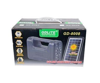 Kit sistem de iluminat cu panou solar GDLite GD-8008 pret