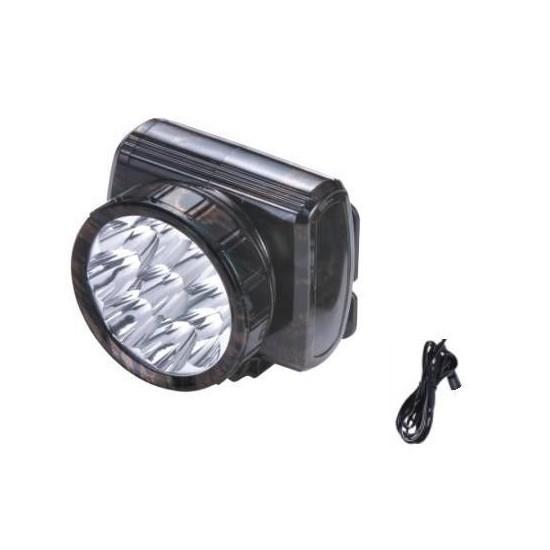 Image of Lanterna frontala reincarcabila cu 9 LED-uri
