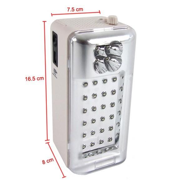 Lanterna multifunctionala 4 in 1 cu Radio FM si USB GD 1111 pret