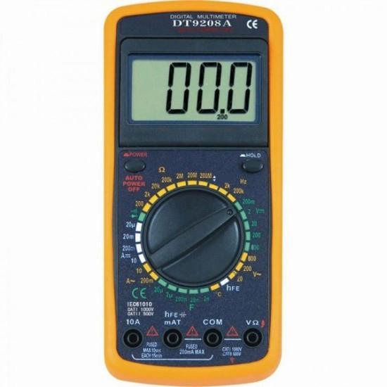 Multimetru digital DT-9208A cu carcasa antisoc pret