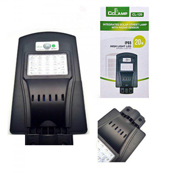 Image of Lampa stradala cu panou solar si senzori IP65 LED 20 W