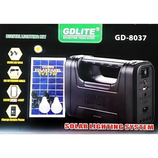 Image of Sistem de iluminat digital cu panou solar GDLite GD-8037