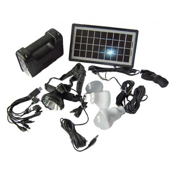 Image of Sistem solar cu USB si lanterna GD 8007